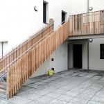 escalier galva garde-corps remplissage bois