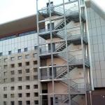 escalier galva avec paliers