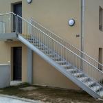 escalier droit galva