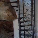 escalier hélicoïdal aspect industriel