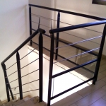 garde-corps escalier soubassement vitré