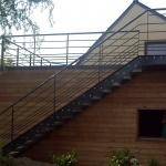escalier droit extérieur