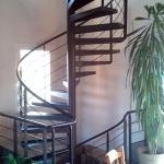 escalier hélicoïdal - marches en tôle plane