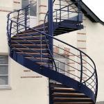escalier hélicïdal galva/thermolaqué