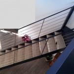 escalier droit marches bois
