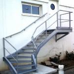 escalier 1/4 tournant galva