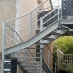 escalier 1/4 tournant acier galva