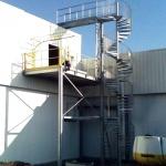 escalier hélicoïdal galva