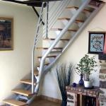 escalier 1/4 tournant marches bois