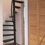 escalier hélicoïdal avec fût incliné